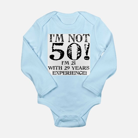 Fiftieth Birthday Long Sleeve Infant Bodysuit