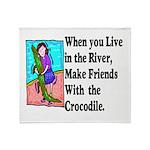 Crocodile Throw Blanket