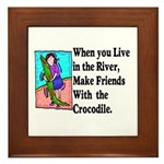 Crocodile Framed Tile