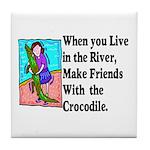 Crocodile Tile Coaster