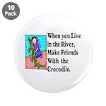 """Crocodile 3.5"""" Button (10 pack)"""