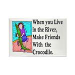 Crocodile Rectangle Magnet