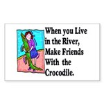 Crocodile Sticker (Rectangle 50 pk)