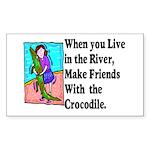 Crocodile Sticker (Rectangle 10 pk)