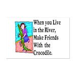 Crocodile Mini Poster Print