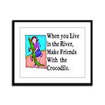 Crocodile Framed Panel Print