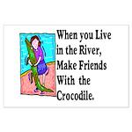 Crocodile Large Poster