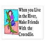 Crocodile Small Poster