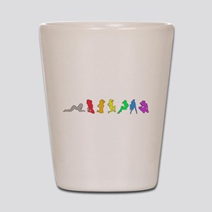 Rainbow Girls Shot Glass