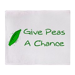 Give Peas a Chance Throw Blanket