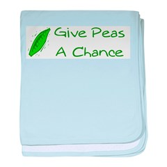 Give Peas a Chance baby blanket