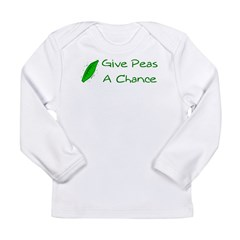 Give Peas a Chance Long Sleeve Infant T-Shirt