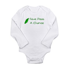 Give Peas a Chance Long Sleeve Infant Bodysuit