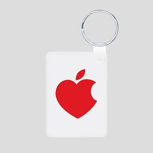 Steve Jobs Aluminum Photo Keychain