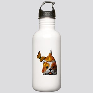Pup and Butterfly Stainless Water Bottle 1.0L