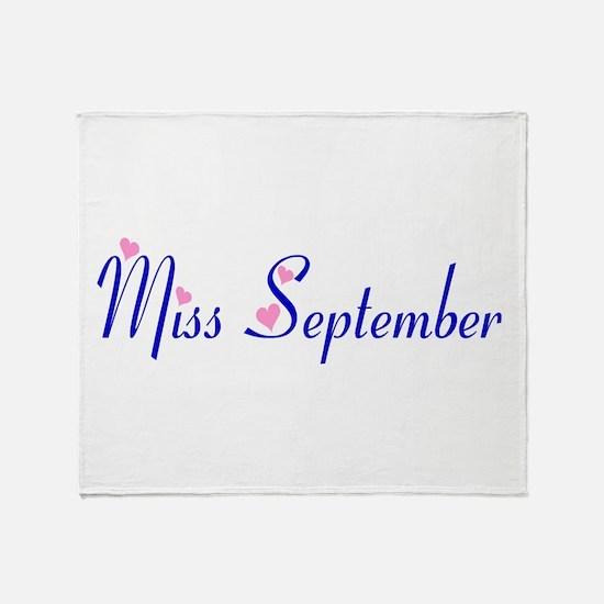 Miss September Throw Blanket