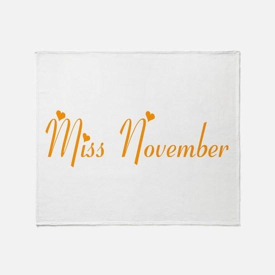 Miss November Throw Blanket