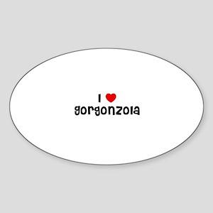 I * Gorgonzola Oval Sticker