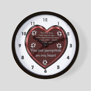 Pawprint Memory Wall Clock