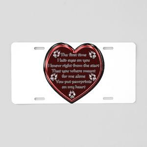 Pawprint Memory Aluminum License Plate