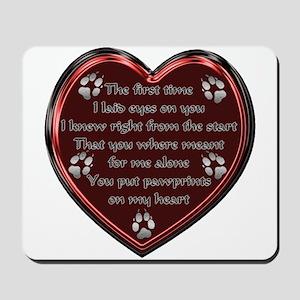 Pawprint Memory Mousepad