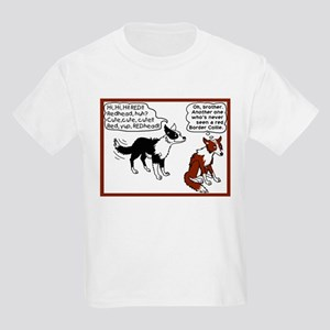 Red Border Collie Kids Light T-Shirt