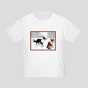 Red Border Collie Toddler T-Shirt