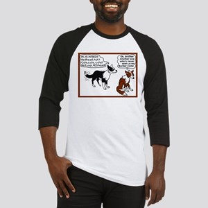 Red Border Collie Baseball Jersey