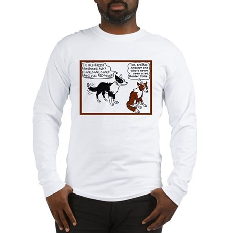 Red Border Collie Long Sleeve T-Shirt