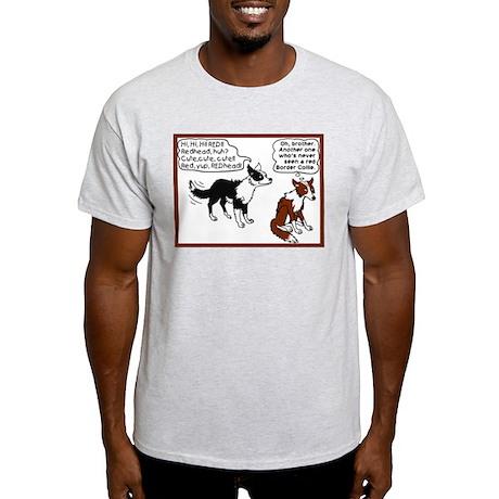 Red Border Collie Light T-Shirt