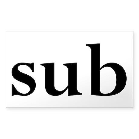 sub Sticker (Rectangle)