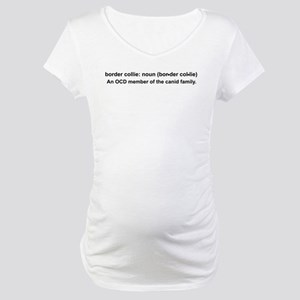 Border Collie Definition Maternity T-Shirt