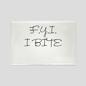 F.Y.I. I Bite Rectangle Magnet