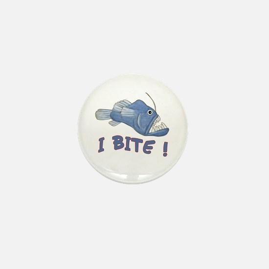 Piranha - I Bite! (blue) Mini Button