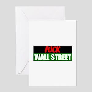 Fuck wall street greeting cards cafepress fuck wall steet greeting card m4hsunfo