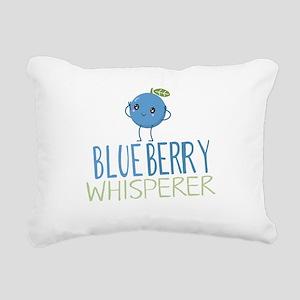 Blueberry Whisperer Rectangular Canvas Pillow