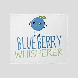 Blueberry Whisperer Throw Blanket