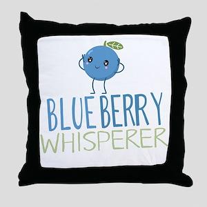 Blueberry Whisperer Throw Pillow