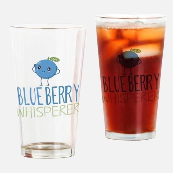 Blueberry Whisperer Drinking Glass