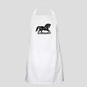 Shiny Black Stallion Horse Apron