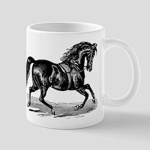 Shiny Black Stallion Horse Mug
