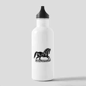 Shiny Black Stallion Horse Stainless Water Bottle