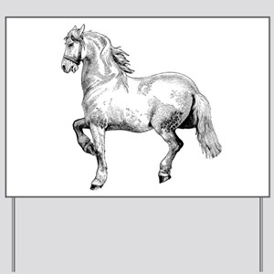 Beautiful White Horse Art Yard Sign