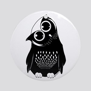 Curious Owl Ornament (Round)