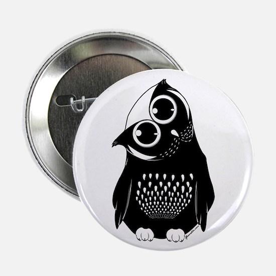 "Curious Owl 2.25"" Button"
