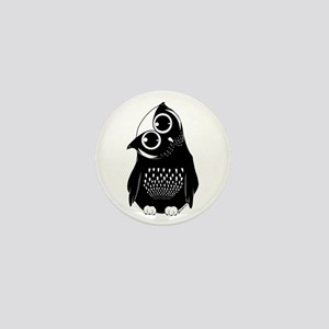Curious Owl Mini Button