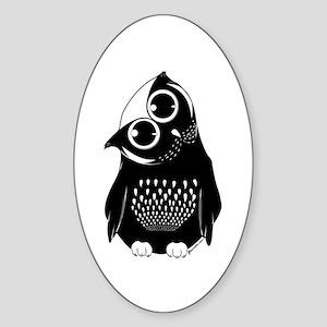 Curious Owl Sticker (Oval)