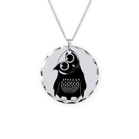 Curious Owl Necklace Circle Charm