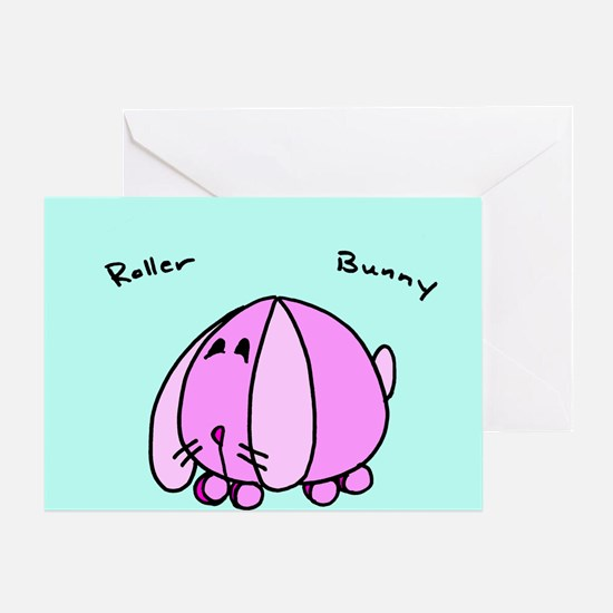 Unique Roller bunny Greeting Card