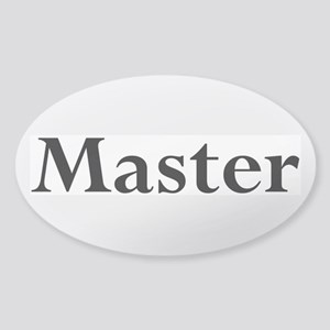 Master Sticker (Oval)